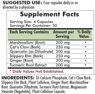 Gastromune Allergy Support -- Hypoallergenic - 120 Capsules - INGREDIENTS