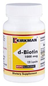 d-Biotin 1000 mcg - Hypoallergenic - 120 capsules