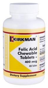 Folic Acid 400 mcg - 400 chewable tablets