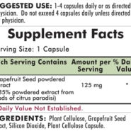 Grapefruit Seed Extract 125 mg - Hypoallergenic - 120 capsules - INGREDIENTS