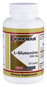 L-Glutamine 250 mg Capsules - Hypoallergenic - 250 Hypoallergenic capsules