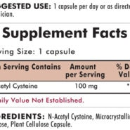 N-Acetyl Cysteine 100 mg - Hypoallergenic - 100 capsules - INGREDIENTS