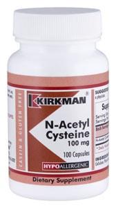 N-Acetyl Cysteine 100 mg - Hypoallergenic - 100 capsules