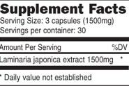 Ocean Plant Extract - 90 capsules - INGREDIENTS