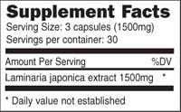 Ocean Plant Extract - 90 capsules - INGREDIENTS