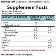 Pea Protein Powder - 2 lbs - INGREDIENTS