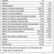 Spectrum Support Advanced Sensitive Vitamins - Flavored (Lemon-Lime) 16oz - INGREDIENTS