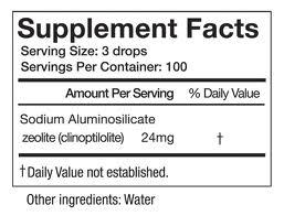 Activated Liquid Zeolite - INGREDIENTS