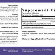Seriphos - 100 capsules - ingredients
