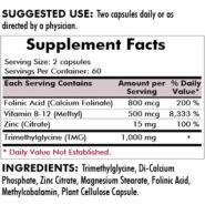 Glutathione Assist Hypoallergenic - 120 capsules - INGREDIENTS