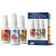 Ultimate Body Detox 2oz System (ACS 200, ACZ Nano, ACG Glutathione), 3 bottle set