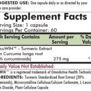 Curcumin/Turmeric Root Extract 275 mg - 60 capsules - INGREDIENTS