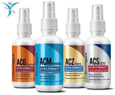 Ultimate Body Weight Loss System 4oz (ACZ Nano, ACG Glutathione, ACS200, ACM Metabo) - 4 bottle set